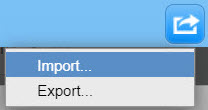 Import/Export button - top right corner of the Import window