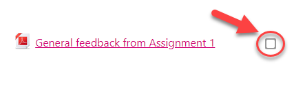 """A screenshot showing how a student might see the completion status for a resource which has been configured as """"Students can manually mark the activity as completed""""."""