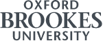 Lower resolution of the Oxford Brookes University logo in charcoal colour