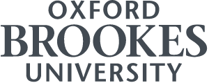 Higher resolution of the Oxford Brookes University logo in charcoal colour