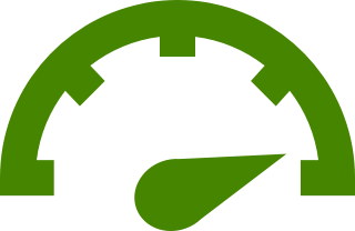 High gauge reading in green.